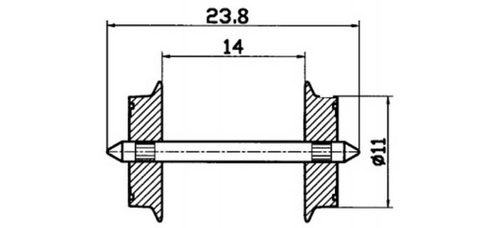 Essieux 11mm, pour courant alternatif