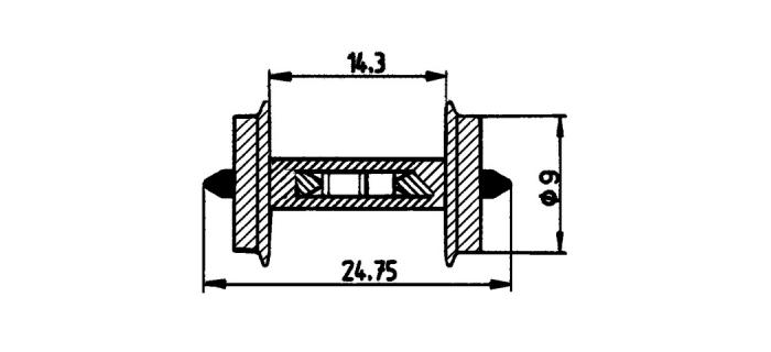 Essieux 9 mm, avec résistance 18k