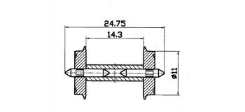 Essieux NEM, 11 mm à demi-axes isolés