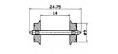 Essieux 9 mm, pour courant alternatif