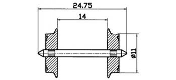 Essieux 11 mm, pour courant alternatif