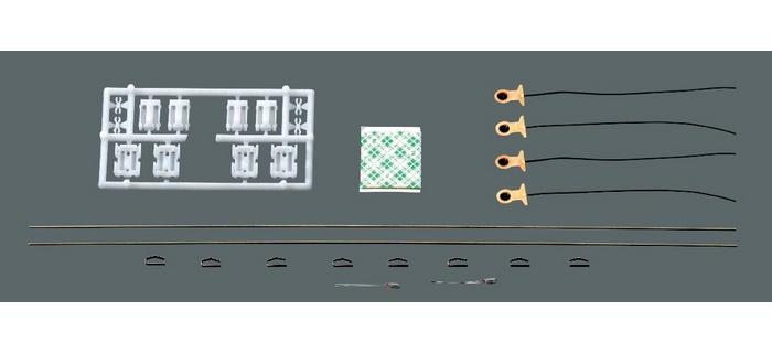 Kit d'éclairage universel pour wagons à 2 essieux et 3 essieux