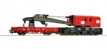 Train électrique : ROCO R56240 - Wagon grue DB