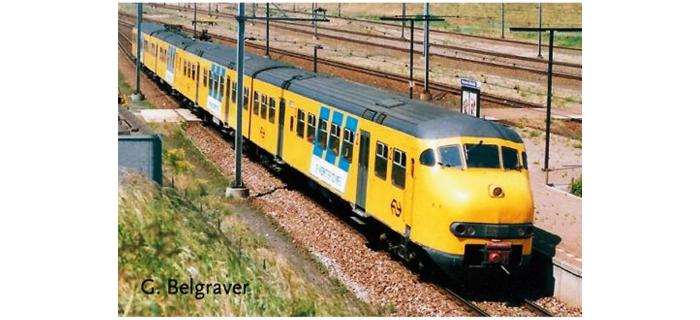 Train électrique : ROCO R63167 - Automotrice Plan T jaune NS