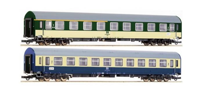 Train électrique : ROCO R64080 - Set 2 voiture uic-y DR