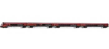 Train électrique : ROCO R63098 - Set 4 voit. RAILJET OBB