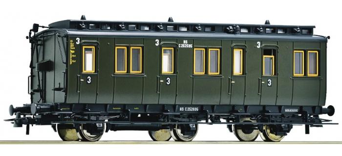 Train électrique : ROCO R64455 - Voiture 3 essieux 3cl NS