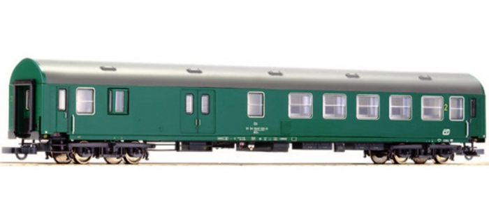Train électrique : ROCO R63874 - Voiture fourgon 2ème classe