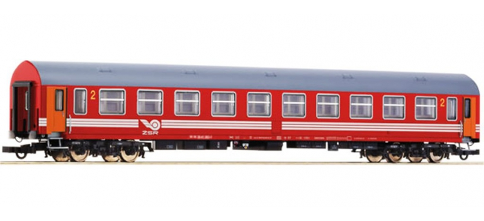 Train électrique :   ROCO R64884 - Voiture 2ème classe ZSR