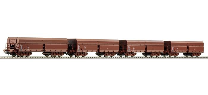 roco 66056 4 wagons à déchargement automatique, DR