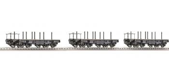 Roco 66184 3 wagons plats de la DRG