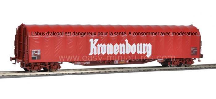 wagon train electrique roco 66301 Wagon baché Kronenbourg, SNCF