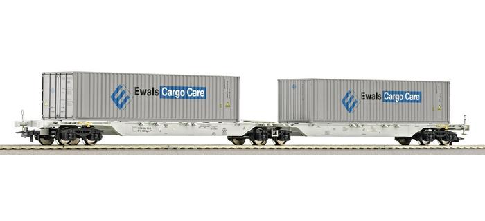 roco 66568 Wagon porte-containers double AAE
