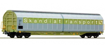 Modélisme ferroviaire - ROCO R 66723 - Wagon parois coullissantes SJ