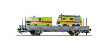 Train électrique - Wagon plat +2 vehicules SBB