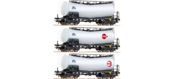 ROCO R 67004 - Coffret de 3 wagons citernes coudees OBB