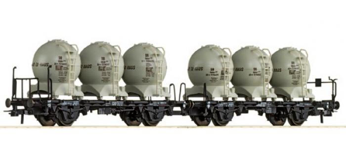 Train électrique : ROCO R67016 - Set 2 wagons silo DB