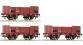 Train électrique : ROCO R67021 - Set 3 wagons tombereaux FS