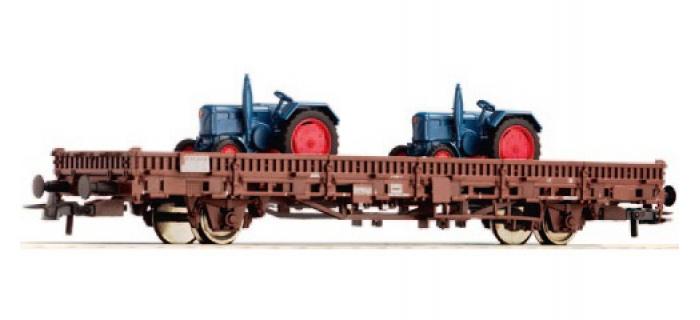 Train électrique : ROCO R67027 - Wagon plat tracteurs Ns