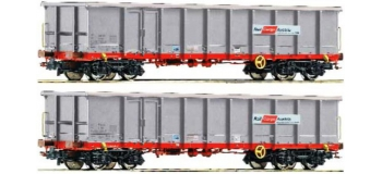 MODELISME FERROVIAIRE ROCO 67041 - Set 2 wagons tomberaux OBB