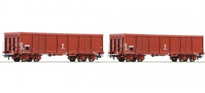 Modèlisme ferroviaire : ROCO R67049 - Set de deux wagons Tombereaux Uas SNCF
