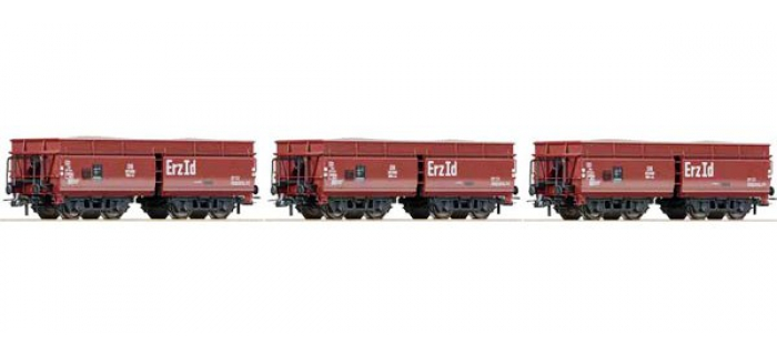 Train électrique : ROCO R67059 - Set 3 wagons trémie DB