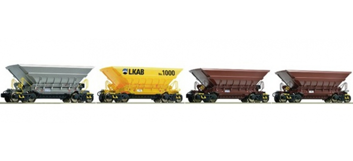 Train électrique : ROCO R67062 - Set 4 tremies LKAB Set 4 tremies LKAB