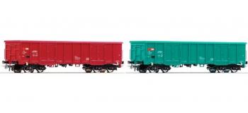 Train électrique : ROCO R67091 - Set 2 wagon tombereaux SBB