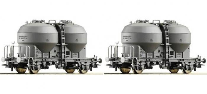 Modélisme ferroviaire :  ROCO R67093 - Set 2 wagons silo SBB