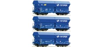Train électrique : ROCO R67095 - Set 3 wagons tremie PKP