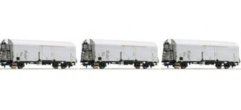 Modélisme ferroviaire : ROCO R67111 - Set 3 wagons INTERFRIGO DR