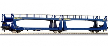Train électrique : ROCO R67239 - Wagon porte auto GEFCO SNCF