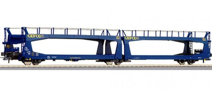 wagon porte auto ta379 livr bleu gefco sncf r67239 roco wagons marchandises easy miniatures. Black Bedroom Furniture Sets. Home Design Ideas