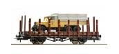 Train électrique : ROCO R67260 - Wagon plat + camion OBB