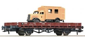 Train électrique : ROCO R67261 - Wagon plat + camion OBB