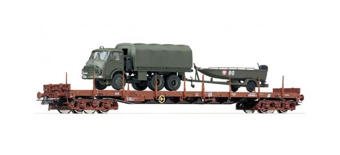 Modélisme ferroviaire : ROCO R67266 - Wagon plat + camion OBB