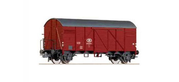 Train électrique : ROCO R67352 - Wagon couvert Bremen SNCB
