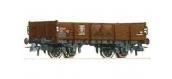 Train électrique : ROCO R67357 - Wagon tombereau brun SNCB
