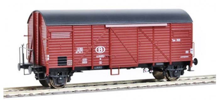 Train électrique : ROCO R67361 - Wagon couvert BREMEN SNCB