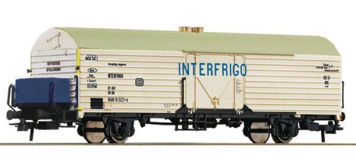 Modélisme ferroviaire :  ROCO R67571 - Wagon frigorifique Interfrigo de la DB