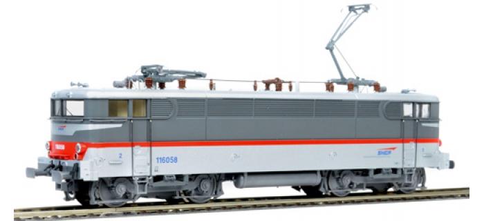Train électrique : ROCO R72464 - Locomotive électrique BB116058 multiservices, SNCF, digital son, avec nouveau pantographes