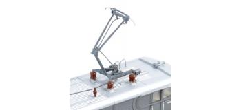 ROCO R72464 - Locomotive électrique BB116058 multiservices, SNCF, digital son, avec nouveau pantographes