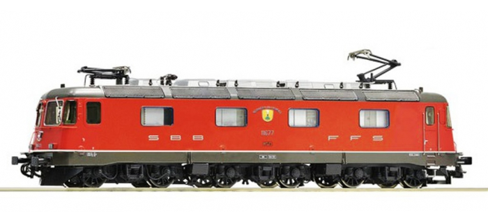 Train électrique : ROCO 72598 - Locomotive Re 6/6 rouge SBB