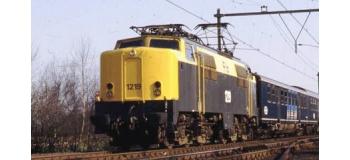 Train électrique : Locomotive électrique 1219 des Chemins de fer de l'État néerlandais, en coloris gris/jaune.