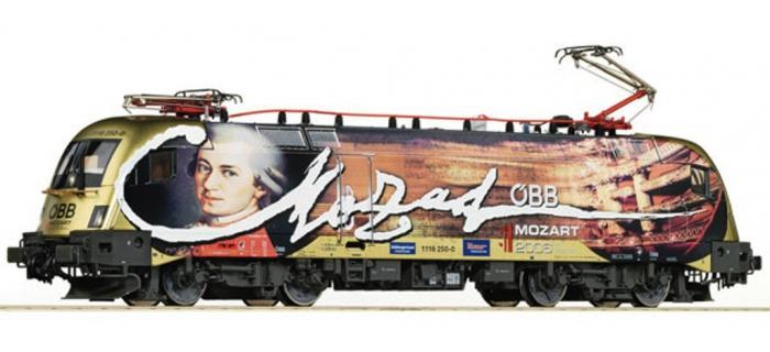 Train électrique : ROCO 73530 - Locomotive électrique RH1116 Mozart OBB SON