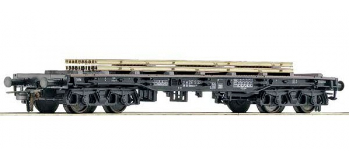 Train électrique : ROCO R76860 - Wagon plat rails Us NS