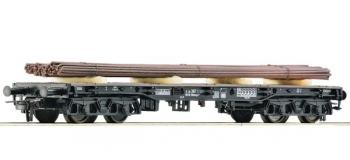 Train électrique : ROCO R76861 - Wagon plat + chargement DB