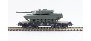 Modélisme ferroviaire : ROCO R67471 - Wagon plat avec char M1 ABRAMS DB