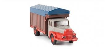 Modélisme ferroviaire : SAI 2961 / BRE85501 - Camion Maraîcher Unic ZU 122 Izoard, gris et orange