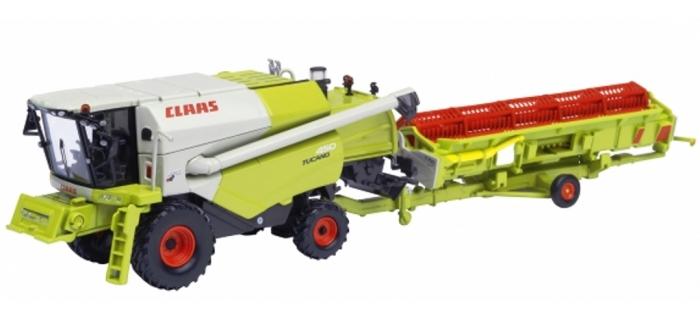 Train électrique : SCHUCO SCHU25682 - Engin agricole CLAAS TUCANO 450 avec remorque